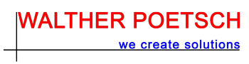 Walther Poetsch e. K. | we create solutions Logo